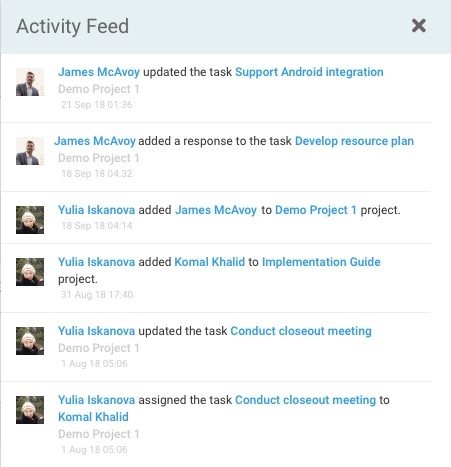 Tracking Recent Activity