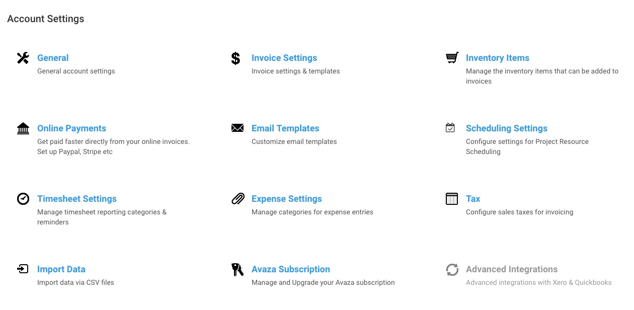 Getting Started With Invoices Avaza Support - How to set up an invoice