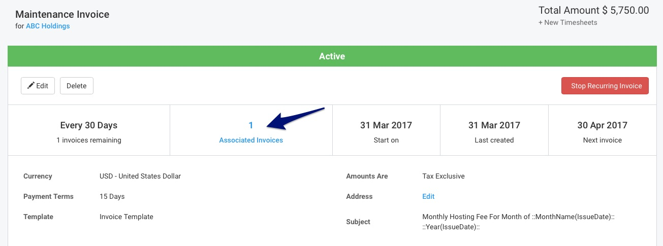 how to delete excel recurring item
