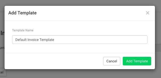 Add Invoice/Estimate Template